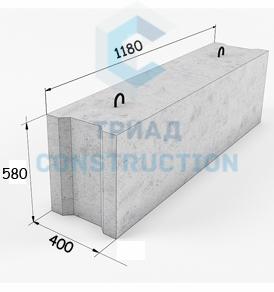 Фундаментный блок ФБС12.4.6-Т