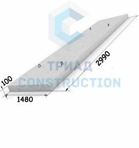 Плита перекрытия лотков П11-8